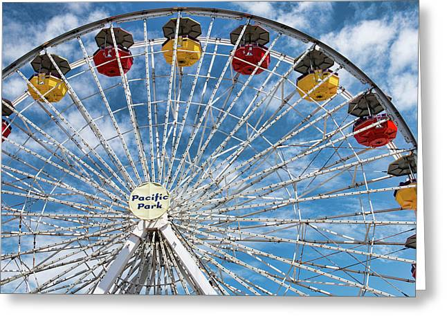 Pacific Park Ferris Wheel Greeting Card