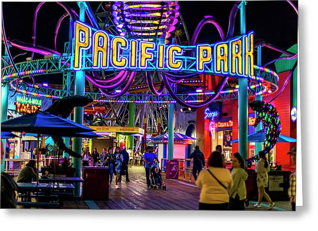 Pacific Park - On The Pier Greeting Card