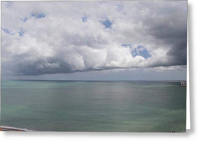 Pacific Storm Panorama Greeting Card