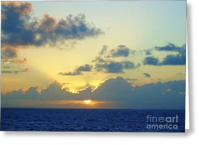 Pacific Sunrise, Japan Greeting Card