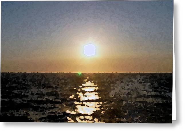 Pacific Sunset Greeting Card by Kenna Westerman