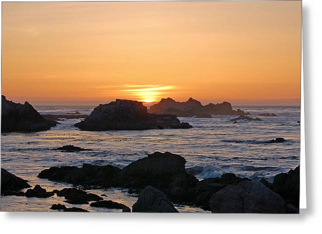 Pacific Sunset Greeting Card by Pearson Photography