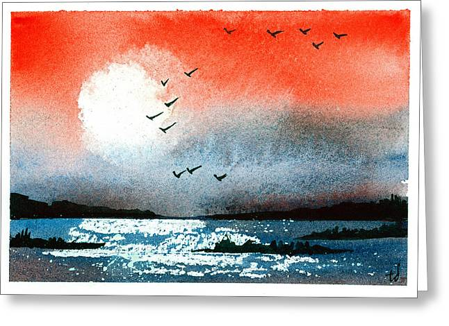Pacific Sunset V Greeting Card