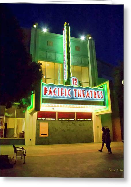 Greeting Card featuring the photograph Pacific Theater - Culver City by Chuck Staley