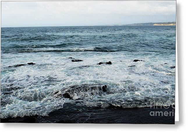 Greeting Card featuring the photograph Pacific View 2 by Linda Shafer