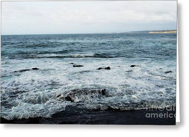 Greeting Card featuring the photograph Pacific View 3 by Linda Shafer