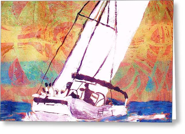 Pacific Wind Greeting Card by Samuel Banks