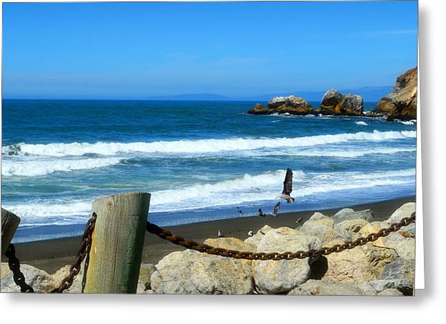 Greeting Card featuring the photograph Pacifica Coast by Glenn McCarthy Art and Photography