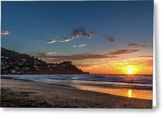 Pacifica Sunset Greeting Card
