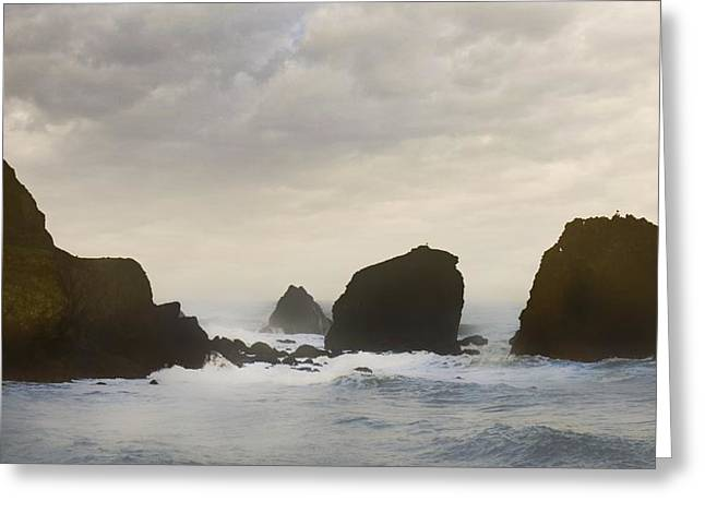 Pacifica Surf Greeting Card by John Hansen