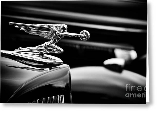 Goddess Of Speed Hood Ornament Greeting Card by Tim Gainey