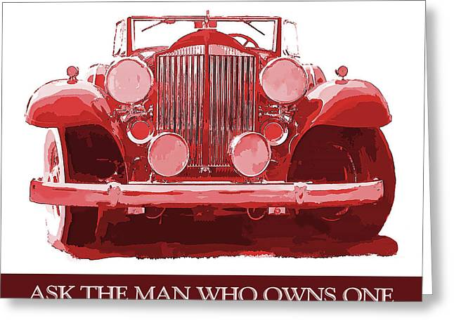 Packard Ask The Man Red Greeting Card