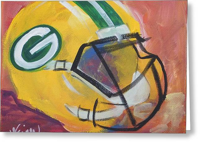Packer Helmet Greeting Card
