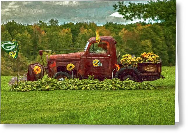 Packers Plow Greeting Card by Trey Foerster
