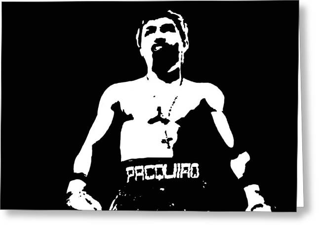 Manny Greeting Cards - Pacquiao Greeting Card by Elvin Dantes