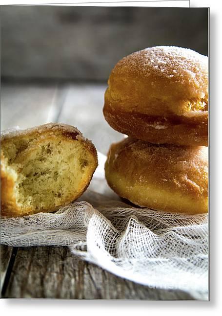 Paczki Doughnuts... A Polish Tradition Greeting Card by Deborah Klubertanz