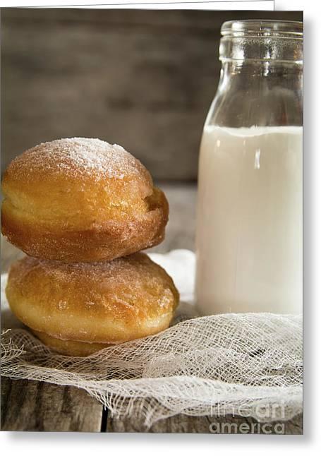 Paczki Doughnuts Greeting Card by Deborah Klubertanz