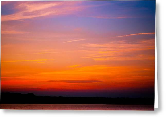 Cape Cod Mass Greeting Cards - Padanaram sunset Greeting Card by Troy DeTerra