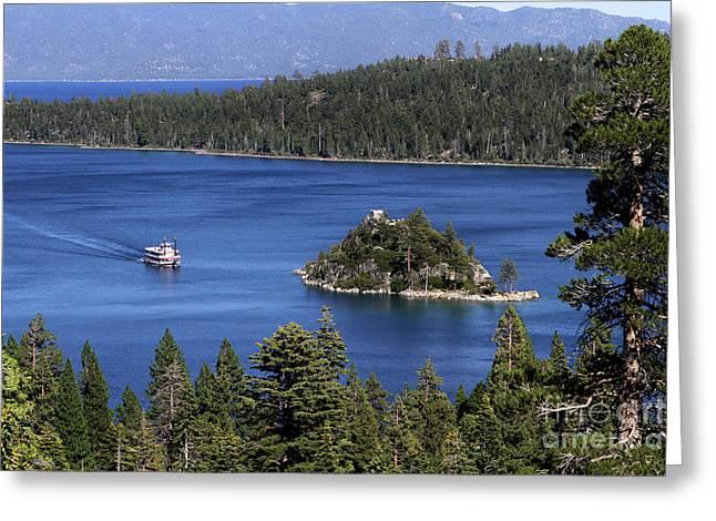 Paddle Boat Emerald Bay Lake Tahoe California Greeting Card