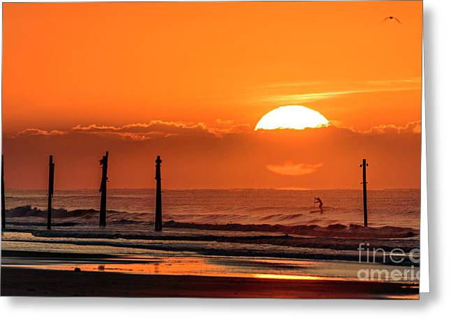Greeting Card featuring the photograph Paddle Home by DJA Images