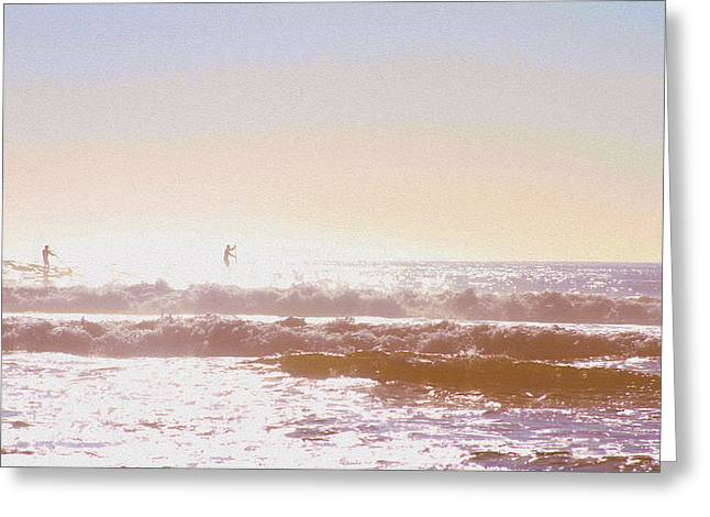 Paddleboarders Greeting Card