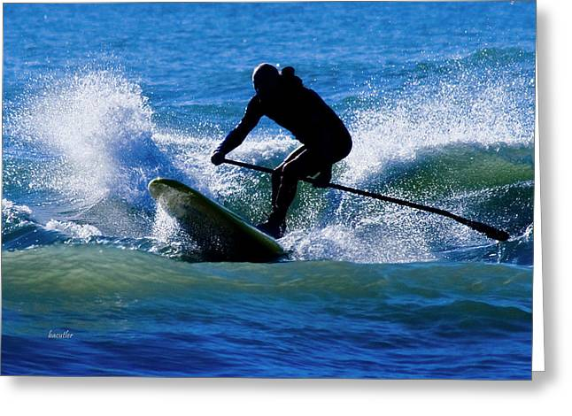 Paddleboarding Greeting Card by Betsy Knapp