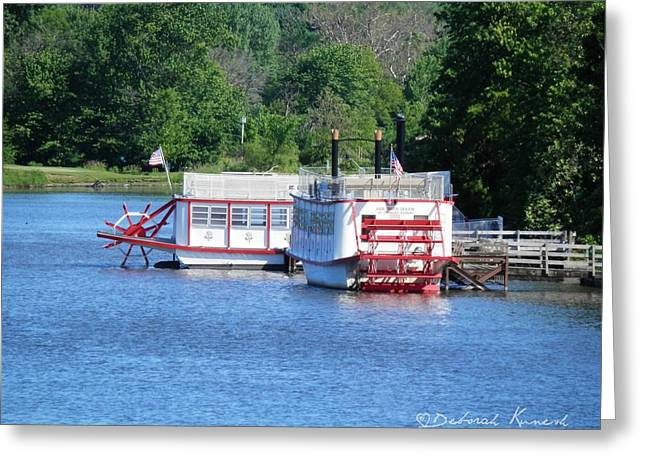 Paddleboat On The River Greeting Card