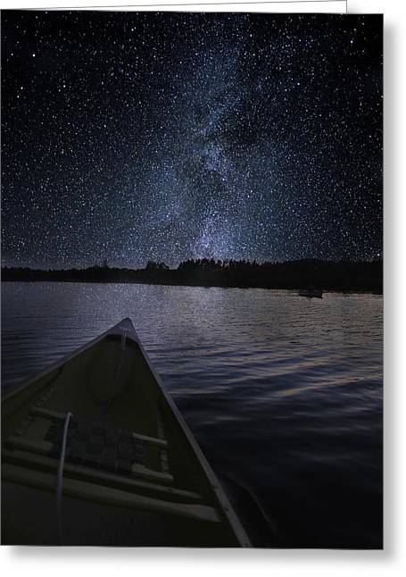 Paddling The Milky Way Greeting Card
