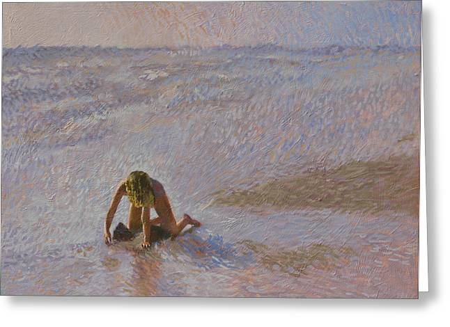 Padre Girl Greeting Card by Robert Bissett