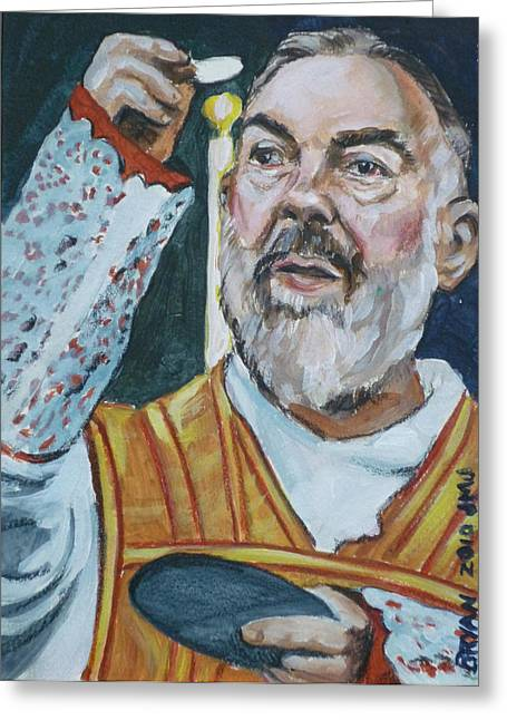 Padre Pio Greeting Card