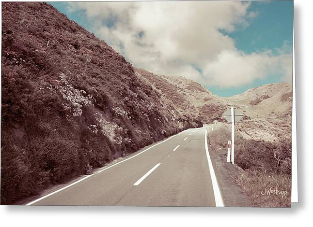 Greeting Card featuring the photograph Paekakariki Hill Road by Joseph Westrupp