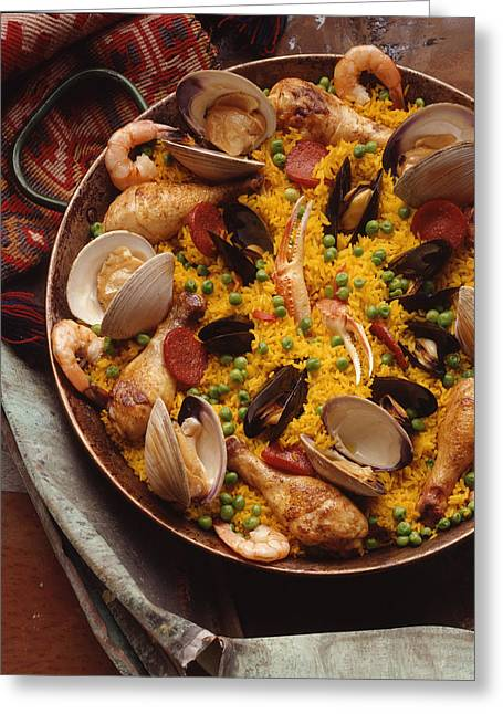 Paella Greeting Card by Phillip McKinley Parker