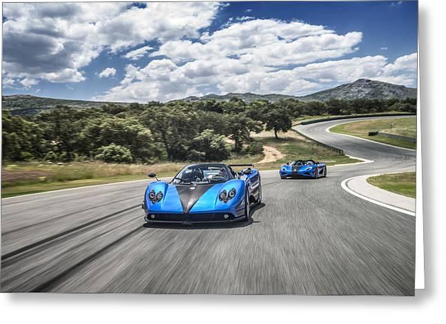 Pagani Zonda Hh And Koenigsegg Agera Hh Greeting Card
