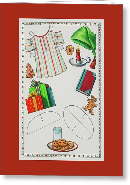 Page 2 Of 2 Teddy Bear Santa Paper Doll Greeting Card