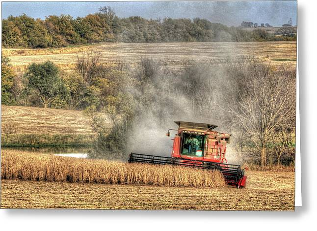 Page County Iowa Soybean Harvest Greeting Card