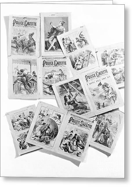 Pages From Police Gazette Greeting Card