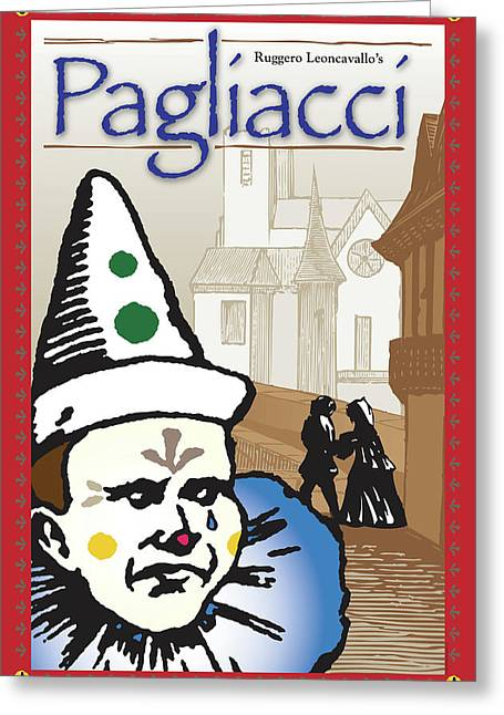 Pagliacci Greeting Card
