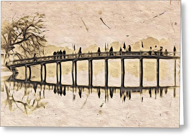 Pagoda Bridge Greeting Card