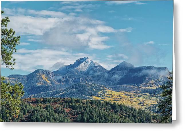 Greeting Card featuring the photograph Pagosa Peak Autumn 2014 by Jason Coward