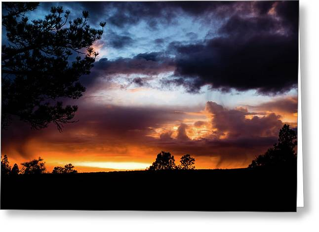 Pagosa Sunset 11-20-2014 Greeting Card