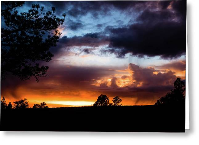 Greeting Card featuring the photograph Pagosa Sunset 11-20-2014 by Jason Coward