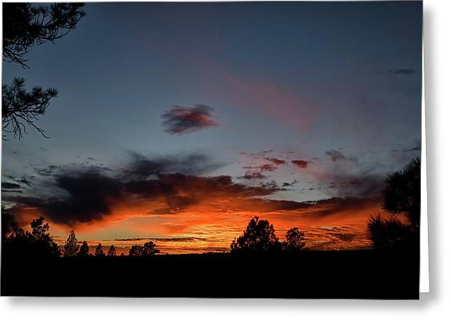 Pagosa Sunset 11-30-2014 Greeting Card