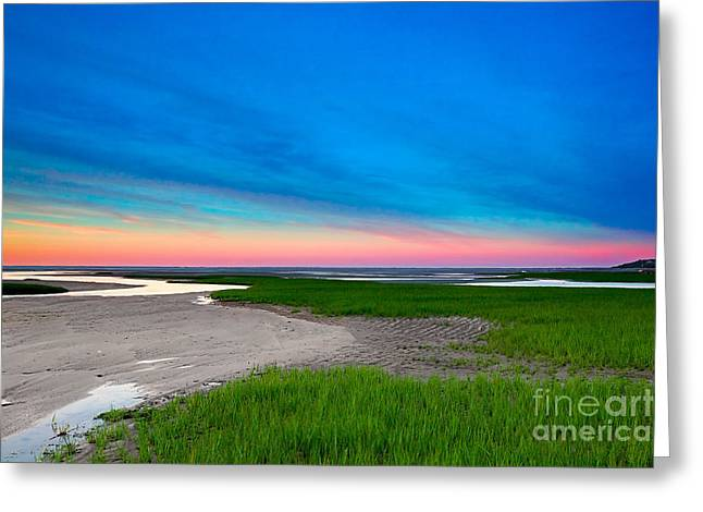 Paines Creek Sunset Cape Cod Greeting Card by Matt Suess