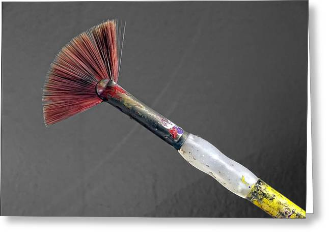 Paint Brush Greeting Card by Robert Ullmann