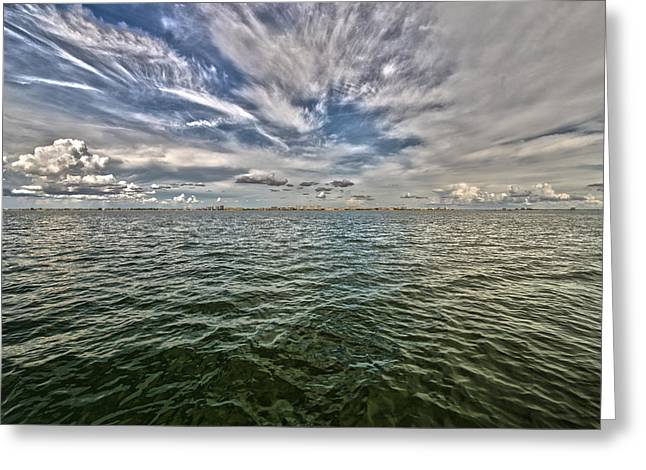 Paint Brush Sky - Ft Myers Beach Greeting Card