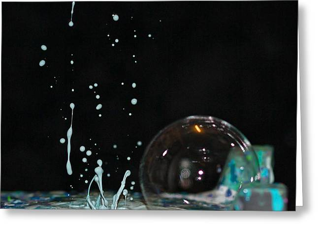 Paint Bubble Frenzy Greeting Card by Becca Buecher