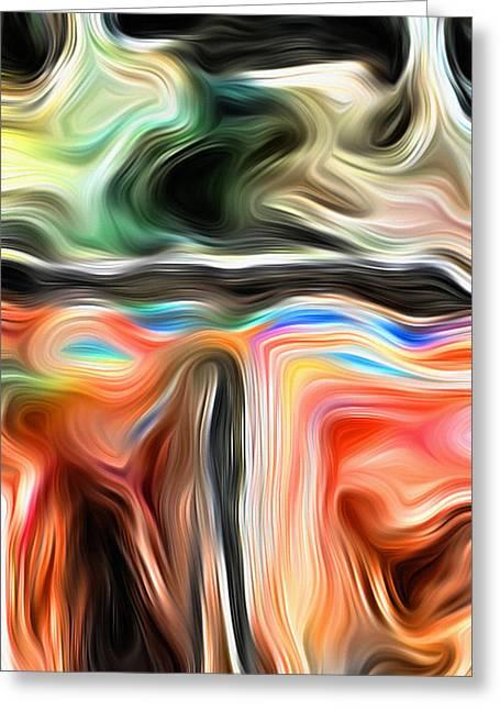 Paint Daub 7 Greeting Card