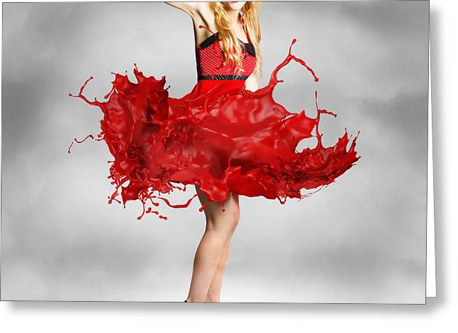 Paint Dress Pin-up Greeting Card by Jorgo Photography - Wall Art Gallery