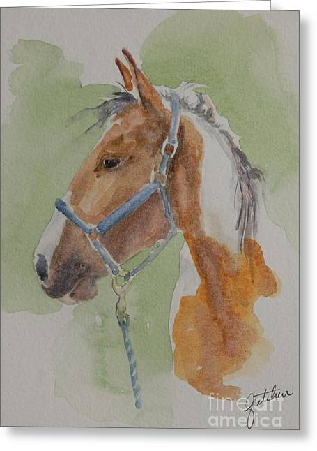 Paint I Greeting Card by Gretchen Bjornson
