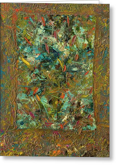 Palette Knife Greeting Cards - Paint number 24 Greeting Card by James W Johnson
